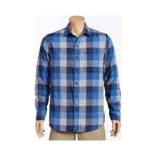 Men's Tommy Bahama Dual Lux Plaid Long Sleeve Shirt Bering Blue