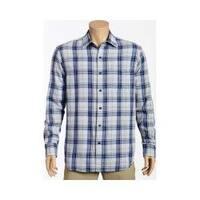 Men's Tommy Bahama Aladdin Plaid Long Sleeve Shirt Dark Cobalt