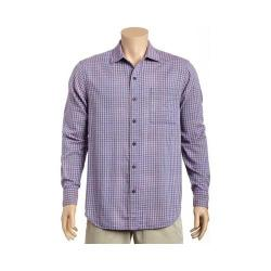 Men's Tommy Bahama Dual Lux Gingham Long Sleeve Shirt Bering Blue