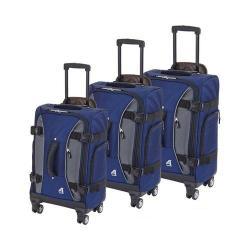 Athalon Hybrid Spinner 3-Piece Luggage Set Navy/Gray