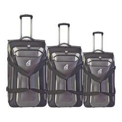 Athalon Independence Pass 3-Piece Luggage Set Gray/Black