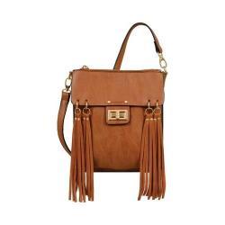 Women's Mellow World Ava Multicolored Fringe Crossbody Bag Camel