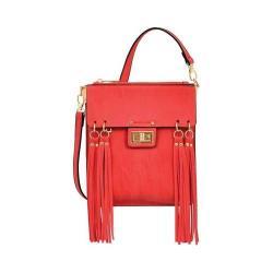 Women's Mellow World Ava Multicolored Fringe Crossbody Bag Red