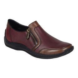 Women's Rieker-Antistress Celia 50 Loafer Teak/Wine/Wine Leather/Synthetic