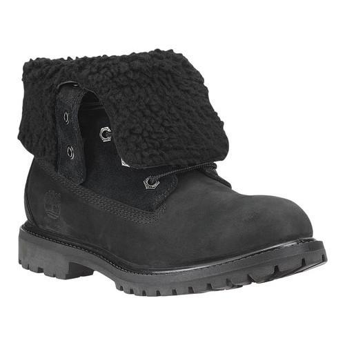Timberland Teddy Fleece Womens Ankle Boots Black Mono