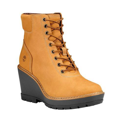 9a5566ccd53 Shop Women s Timberland Kellis Wedge Ankle Boot Wheat Nubuck - Ships ...