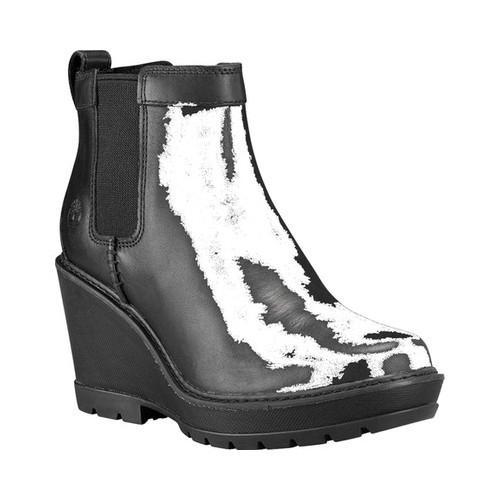 Women  x27 s Timberland Kellis Wedge Chelsea Boot Black Full Grain Leather 3f7d6c2f87