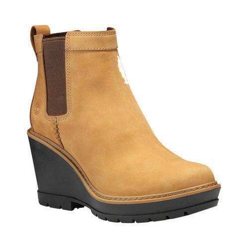 94ac6a724f4 Shop Women s Timberland Kellis Wedge Chelsea Boot Wheat Nubuck ...