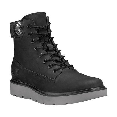 Women's Timberland Kenniston 6in Lace Up Boot Black Nubuck/Snake Collar