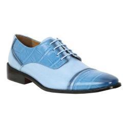 Men's Giorgio Brutini Hadley Cap Toe Oxford Blue/Light Blue Snake Print Synthetic