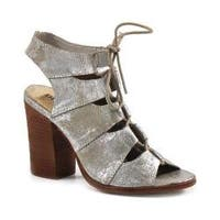 Women's Diba True Tren Dee Heels Silver Metallic Leather