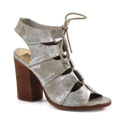 Women's Diba True Tren Dee Heels Silver Metallic Leather