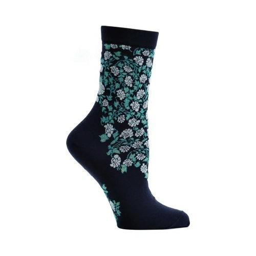 360de04fc3 Shop Women's Ozone Blooming Filigree Sock Navy - Free Shipping On Orders  Over $45 - Overstock.com - 18266089