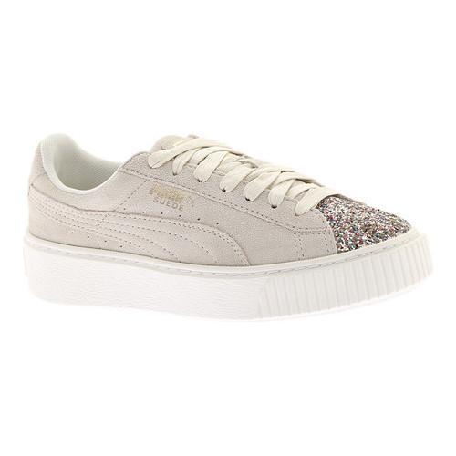 81392a06ff2e Shop Women s PUMA Suede Platform Sneaker Marshmallow Metallic Gold Crushed  Gem - Free Shipping Today - Overstock - 18266094