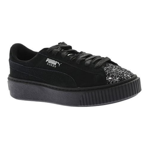 Shop Women s PUMA Suede Platform Sneaker Puma Black Puma Aged Silver  Crushed Germ - On Sale - Free Shipping Today - Overstock - 18266095 2aae775e3