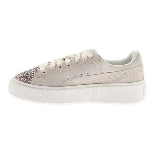 ... Thumbnail Women  x27 s PUMA Suede Platform Sneaker Marshmallow Metallic  Gold Crushed Gem 7296334ee