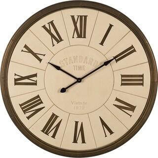 Mercana Herman White Metal Wall Clock