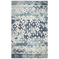 Rizzy Home Marianna Fields Grey Wool Hand-Tufted Rectangle Rug (9' x 12')