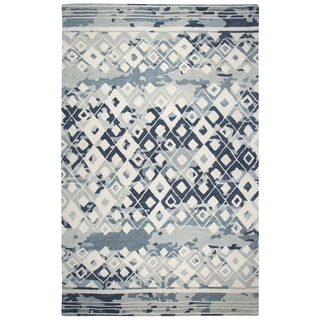 Rizzy Home Marianna Fields Grey Wool Handmade Area Rug - 8' x 10'