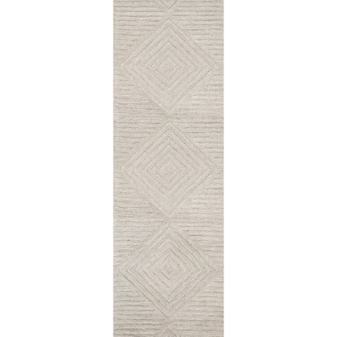 "Rizzy Home Idyllic Hand-Tufted 2'6"" x 8' Runner Rug, Natural"