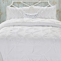 Elegant Comfort All Season Luxury Soft Pintuck 3-Piece Comforter Set
