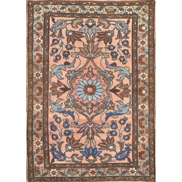 Pasargad NY Antique Persian Lilian Saruk Wool Handmade Area Rug