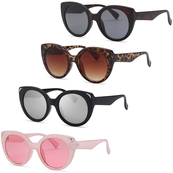 AFONiE Dive Cat Eyes Thick Frame Sunglasses for women - 4Pack ...