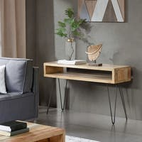 INK IVY Phelps Brown Console Table