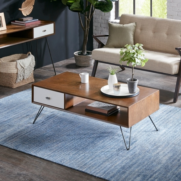 Shop INK IVY Mia Brown/ White Coffee Table