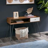 INK IVY Mia Brown/ White Console Table