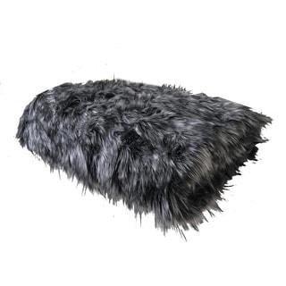 Plutus Wolf Faux Fur Grey Luxury Blanket