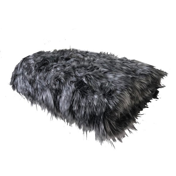 Plutus Wolf Faux Fur Grey Luxury Blanket