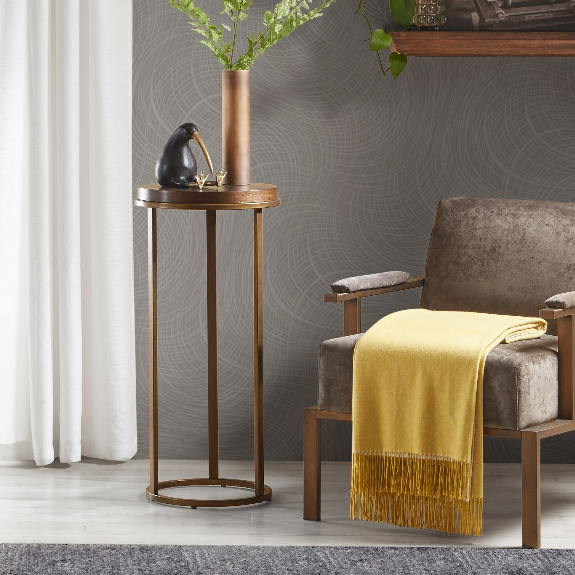 Strick & Bolton Alela Brown 32.25-inch Pedestal Table (Brown)