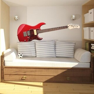 "Guitar Music Full Color Wall Decal Sticker K-898 FRST Size 30""x60"""