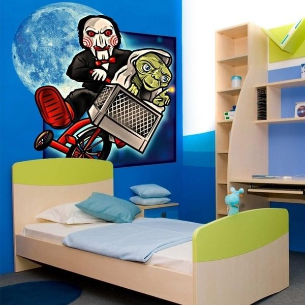 Horror Movie Hero Yoda Full Color Wall Decal Sticker K-907 FRST Size 52