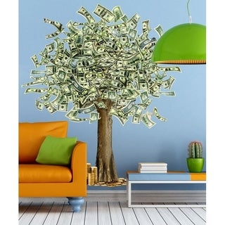 "Dollar Tree Money Bucks Full Color Wall Decal Sticker K-914 FRST Size 22""x27"""