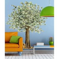 "Dollar Tree Money Bucks Full Color Wall Decal Sticker K-914 FRST Size 46""x56"""
