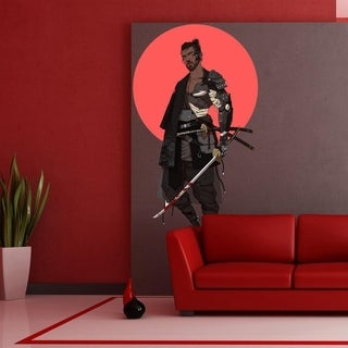 "Samurai Catana Anime Full Color Wall Decal Sticker K-924 FRST Size 52""x80"""