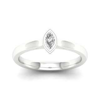 De Couer 10k Gold 1/6 ct TDW Diamond Marquise Shape Ring