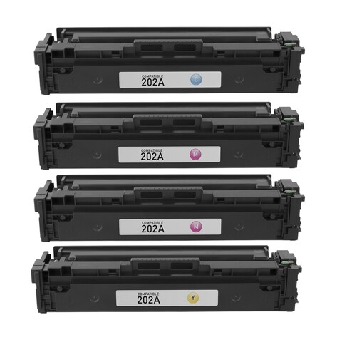 4PK Compatible CF500A CF501A CF502A CF503A Toner Cartridge For HP LaserJet Pro M254nw M254dw M280nw M281fdw ( Pack of 4 )