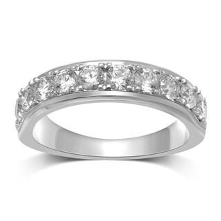 Unending Love 14K White Gold 1 ctw Diamond (I-J Color, I1-I2 Clarity) Wedding Band