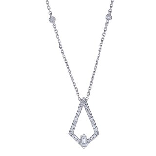 18K WG Diamond Necklace by Anika And August - White