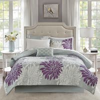 Madison Park Essentials Caldwell Purple Comforter and Cotton Sheet Set