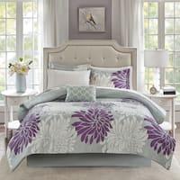 Madison Park Essentials Caldwell Purple Comforter and Cotton Sheet Set