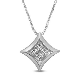 Unending Love 14K White Gold 1/7 ctw Diamond (I-J Color, I2-I3 Clarity) Starra Pendant