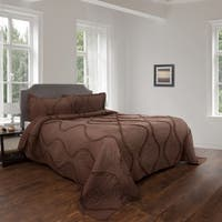 Hypoallergenic Quilt Set Curved Ruffle Design Charlize Series WH