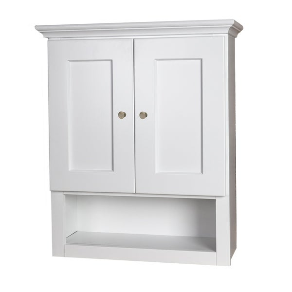 White Shaker Bathroom Wall Cabinet Free Shipping Today 21010187