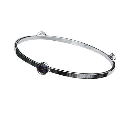 Handmade Recycled Vintage Amber Brown Bleach Jug Glass Stacking Bangle Bracelet (United States)