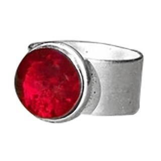 Handmade Recycled Vintage 1940's Ruby Beer Bottle Adjustable Ring (United States)