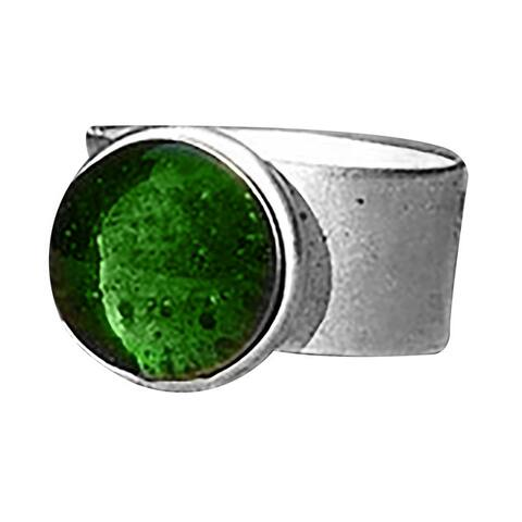 Vintage Early 1900's Olive Green Wing Bottle Adjustable Ring